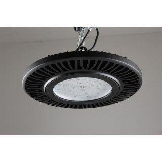 LED Hallenstrahler HighBay, IP65, 100W - 230W, 5700K, 130 Lumen/Watt,120°, schwarz, dimmbar 1-10V, optional Dali